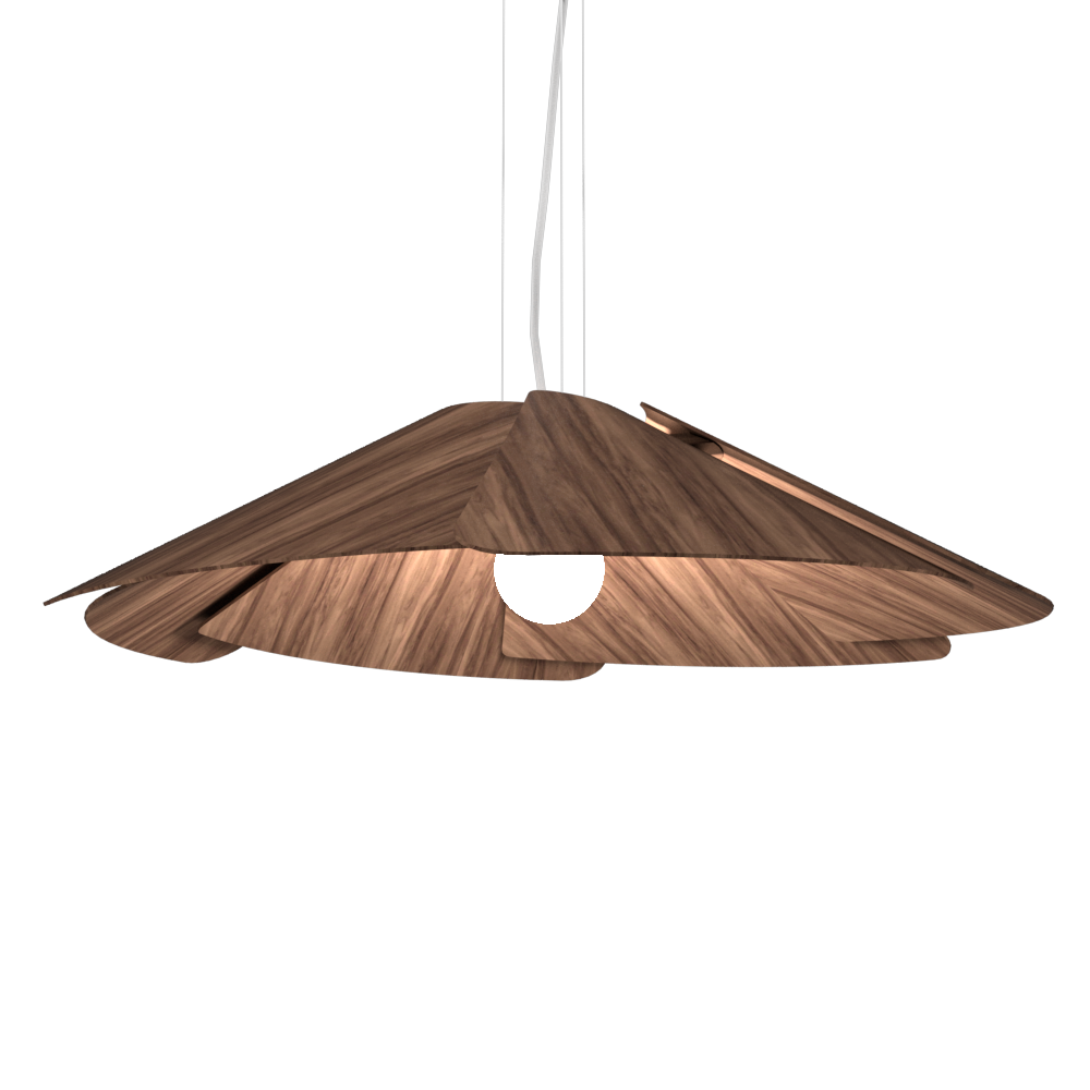 Pendant Lamp Accord Fuchsia 1365 - Fuchsia Line Accord Lighting | 18. American Walnut