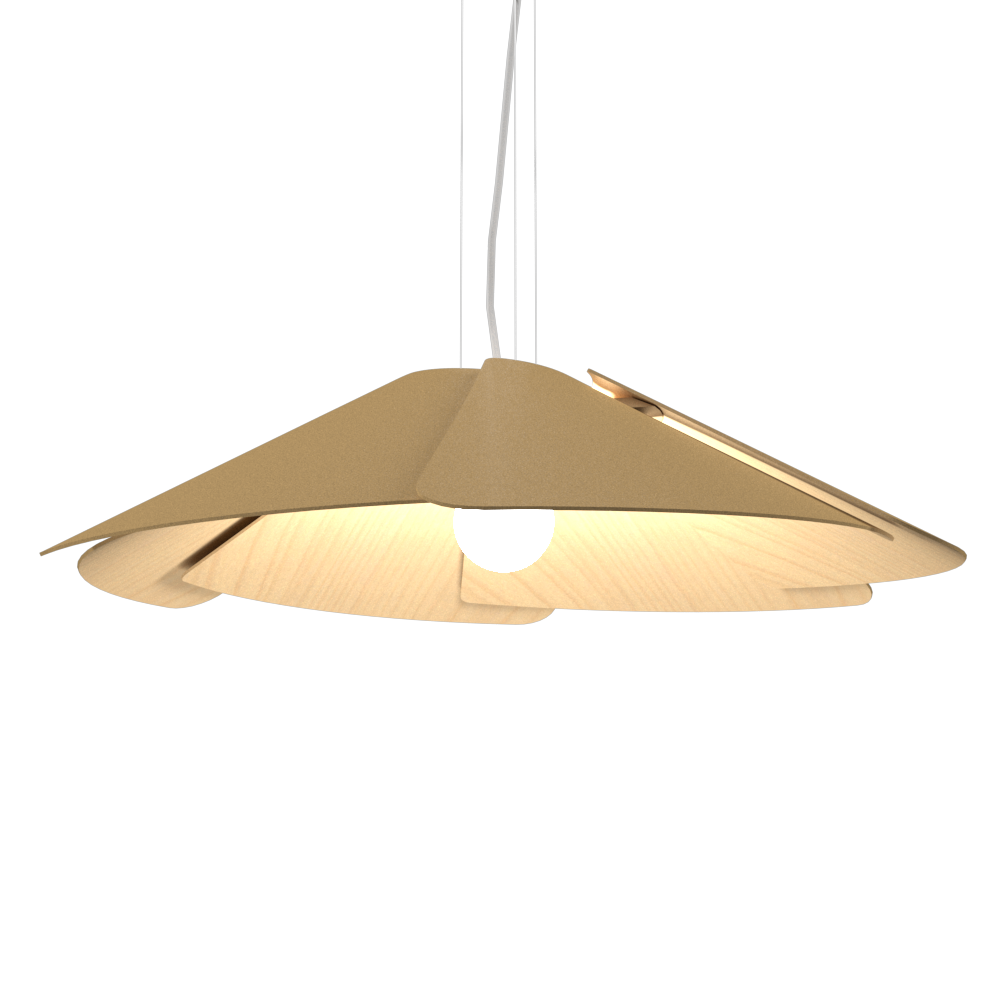 Pendant Lamp Accord Fuchsia 1365 - Fuchsia Line Accord Lighting | 27. Gold