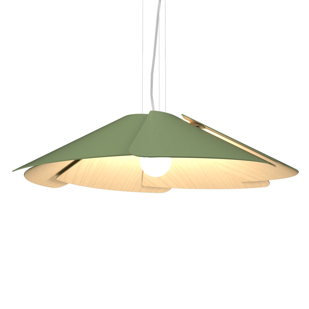 Pendant Lamp Accord Fuchsia 1365 - Fuchsia Line Accord Lighting | 30. Olive Green
