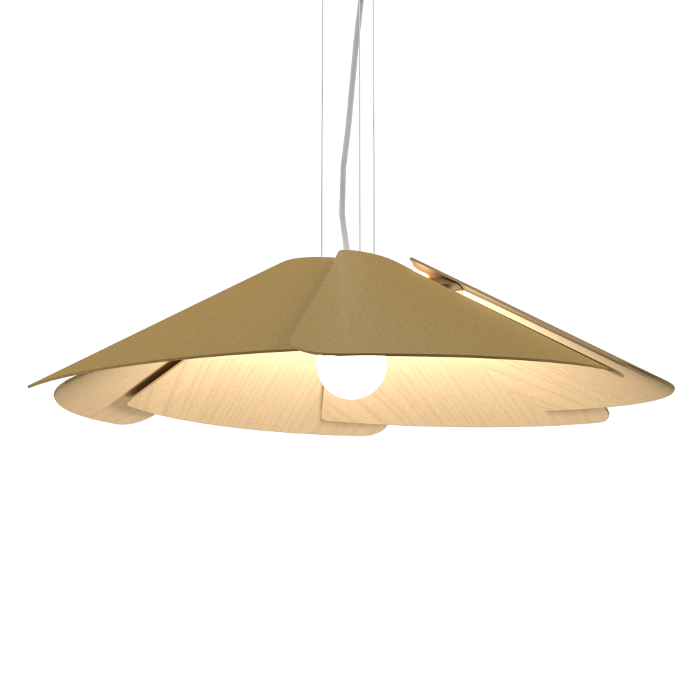 Pendant Lamp Accord Fuchsia 1365 - Fuchsia Line Accord Lighting | Pale Gold