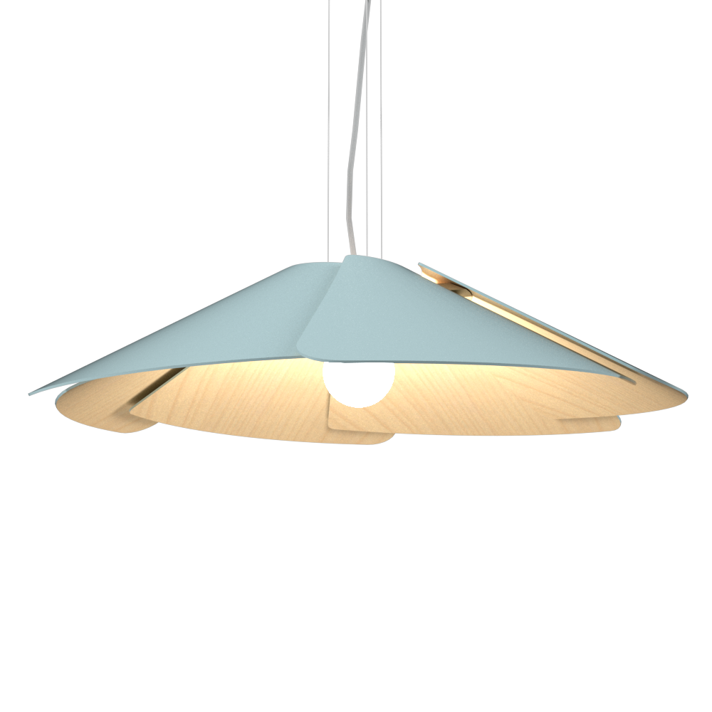 Pendant Lamp Accord Fuchsia 1365 - Fuchsia Line Accord Lighting | Satin Blue