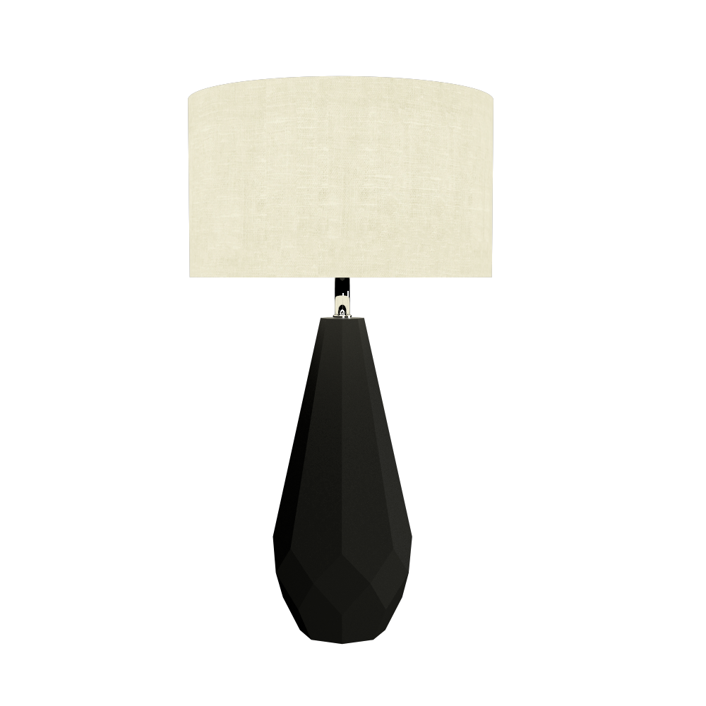 Table Lamp Accord Facetado 7051 - Facetada Line Accord Lighting | 02. Matte Black