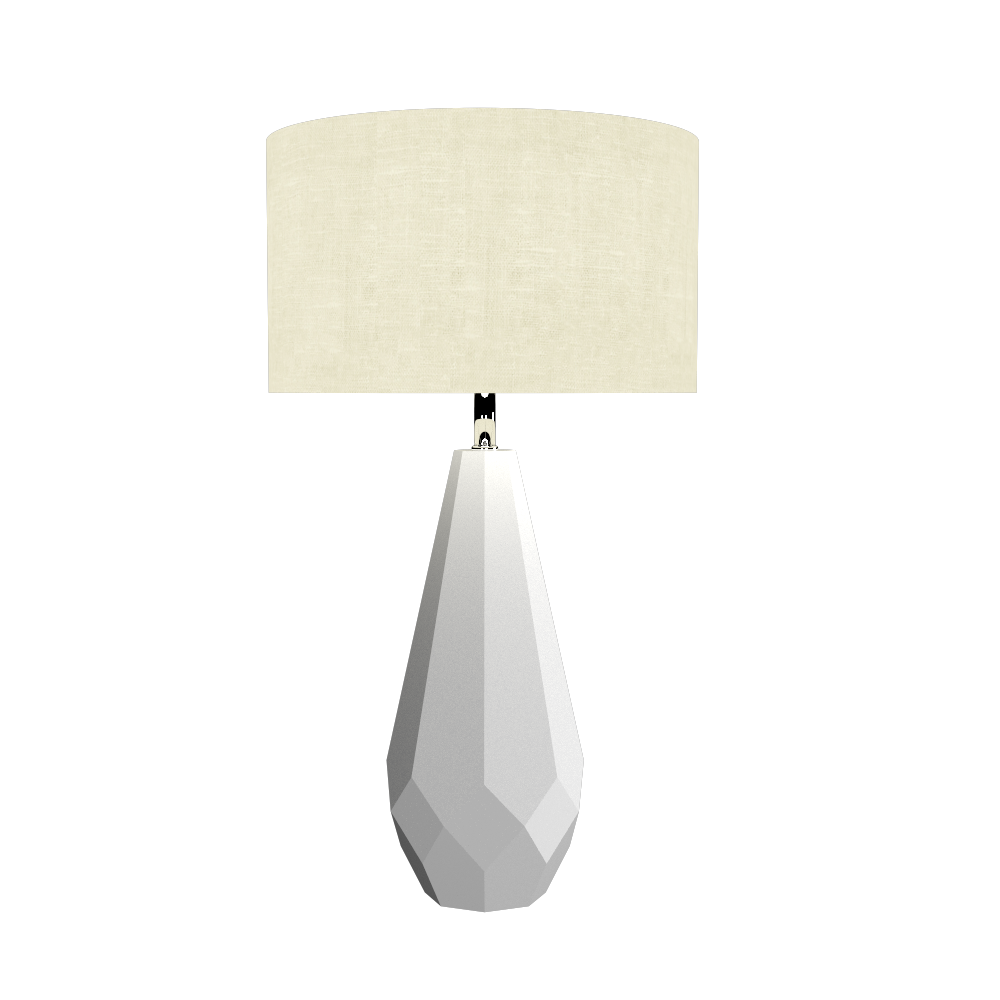 Table Lamp Accord Facetado 7051 - Facetada Line Accord Lighting | 07. White