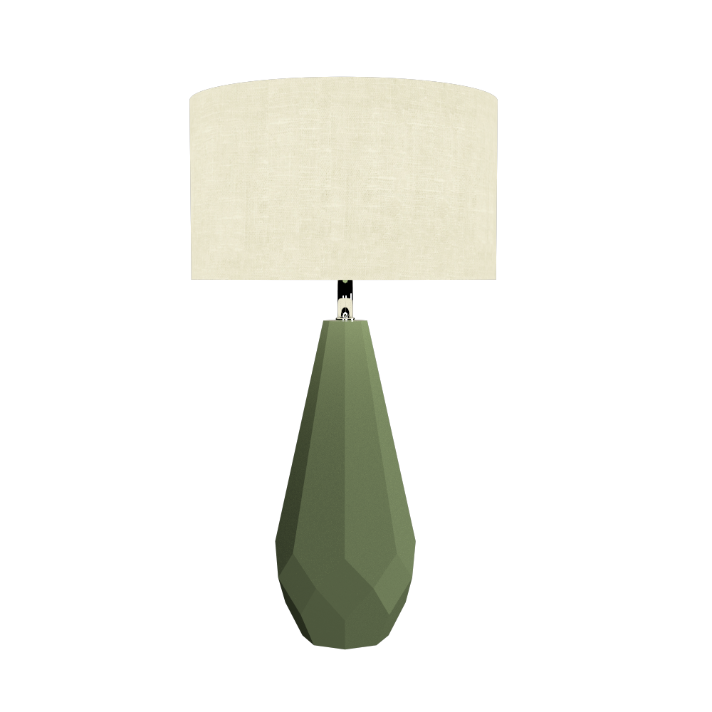 Table Lamp Accord Facetado 7051 - Facetada Line Accord Lighting | 30. Olive Green