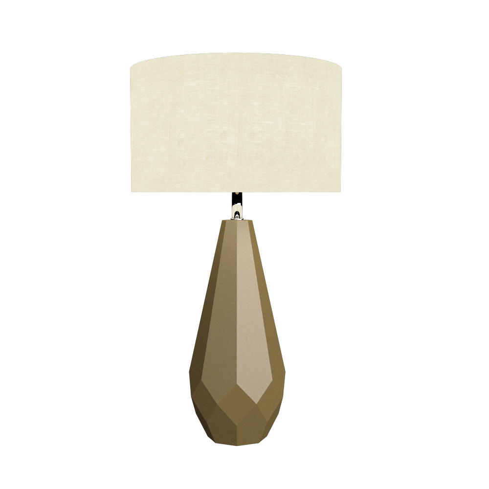 Table Lamp Accord Facetado 7051 - Facetada Line Accord Lighting | Pale Gold