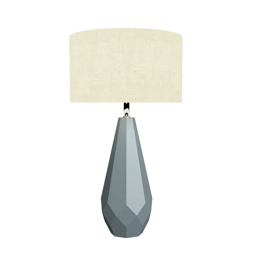Table Lamp Accord Facetado 7051 - Facetada Line Accord Lighting | Satin Blue
