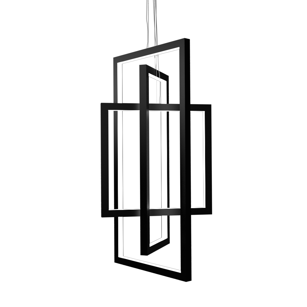 Pendant Lamp Accord Frame 1386 - Frame Line Accord Lighting | 02. Matte Black