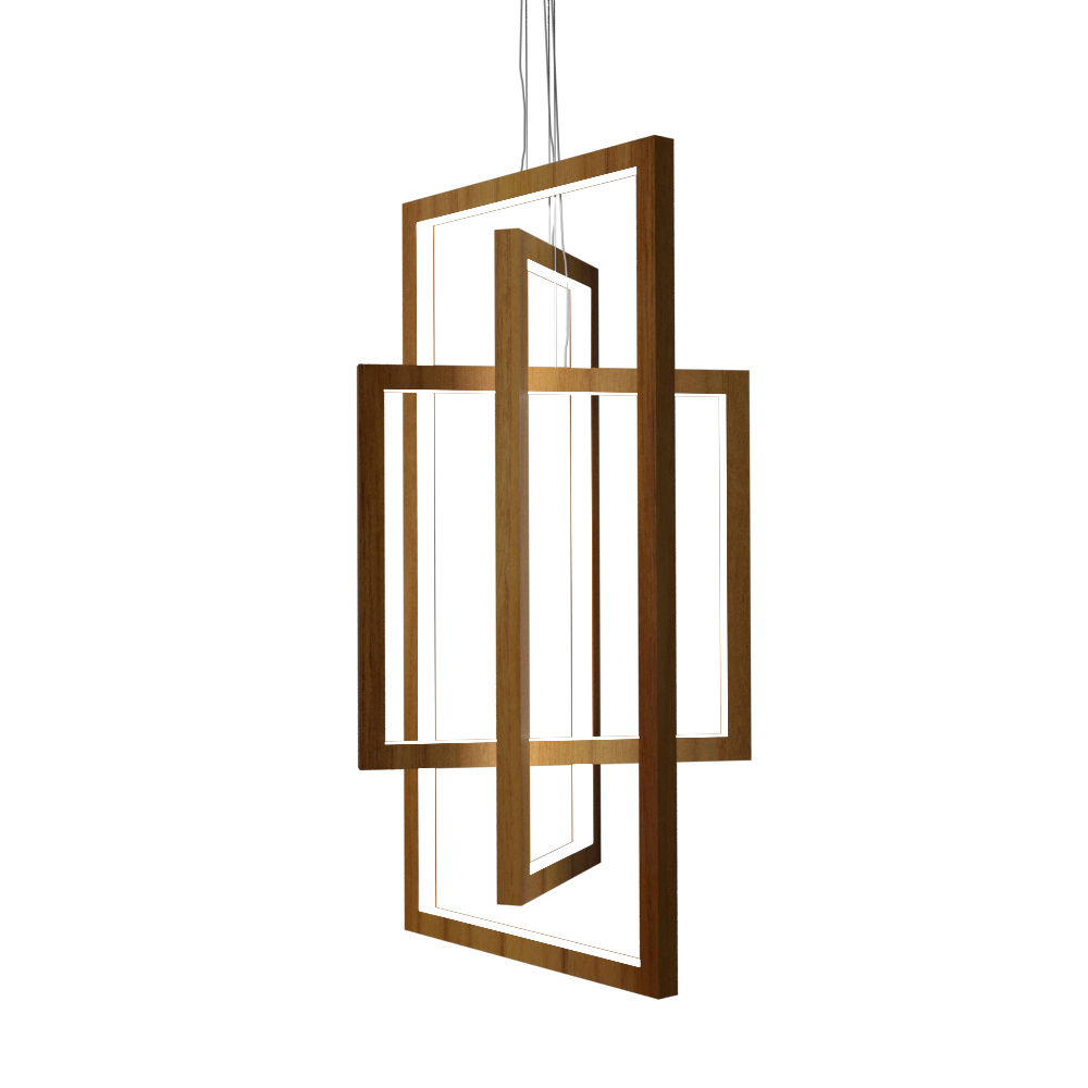 Pendant Lamp Accord Frame 1386 - Frame Line Accord Lighting | 12. Teak