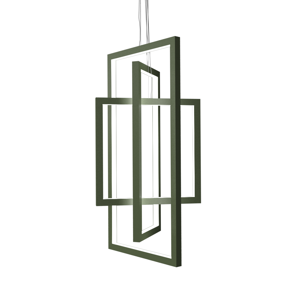 Pendant Lamp Accord Frame 1386 - Frame Line Accord Lighting | 30. Olive Green
