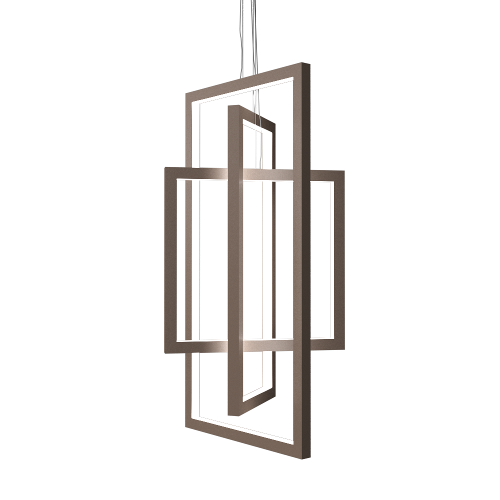 Pendant Lamp Accord Frame 1386 - Frame Line Accord Lighting | 33. Bronze