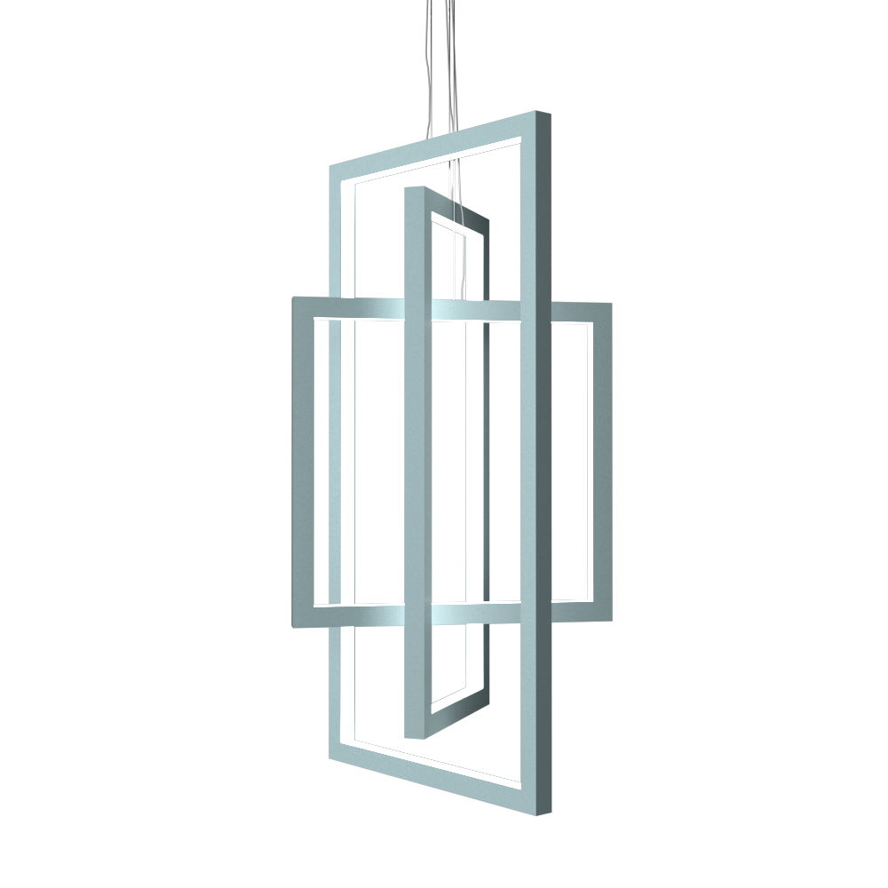 Pendant Lamp Accord Frame 1386 - Frame Line Accord Lighting | Satin Blue