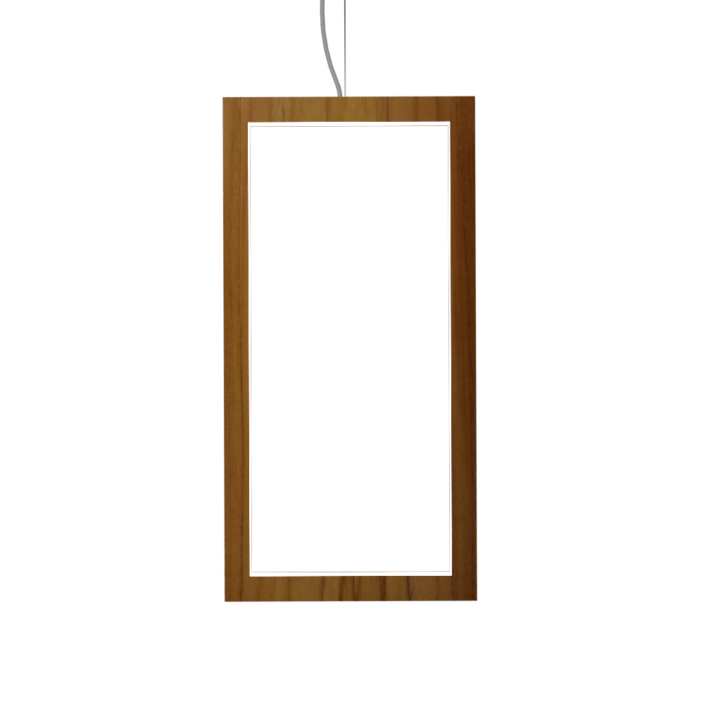 Pendant Lamp Accord Frame 1381 - Frame Line Accord Lighting | 12. Teak