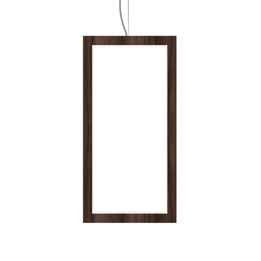 Pendant Lamp Accord Frame 1381 - Frame Line Accord Lighting | 18. American Walnut