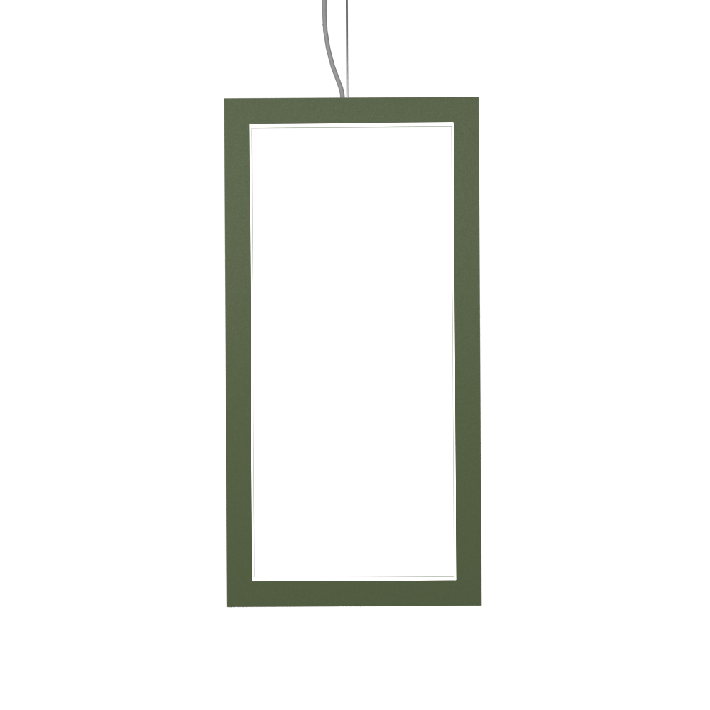 Pendant Lamp Accord Frame 1381 - Frame Line Accord Lighting | 30. Olive Green