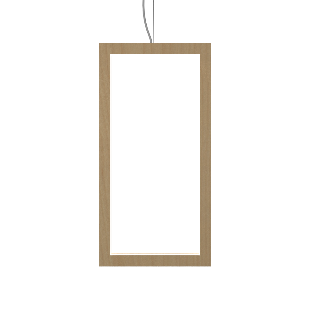 Pendant Lamp Accord Frame 1381 - Frame Line Accord Lighting | 34. Maple