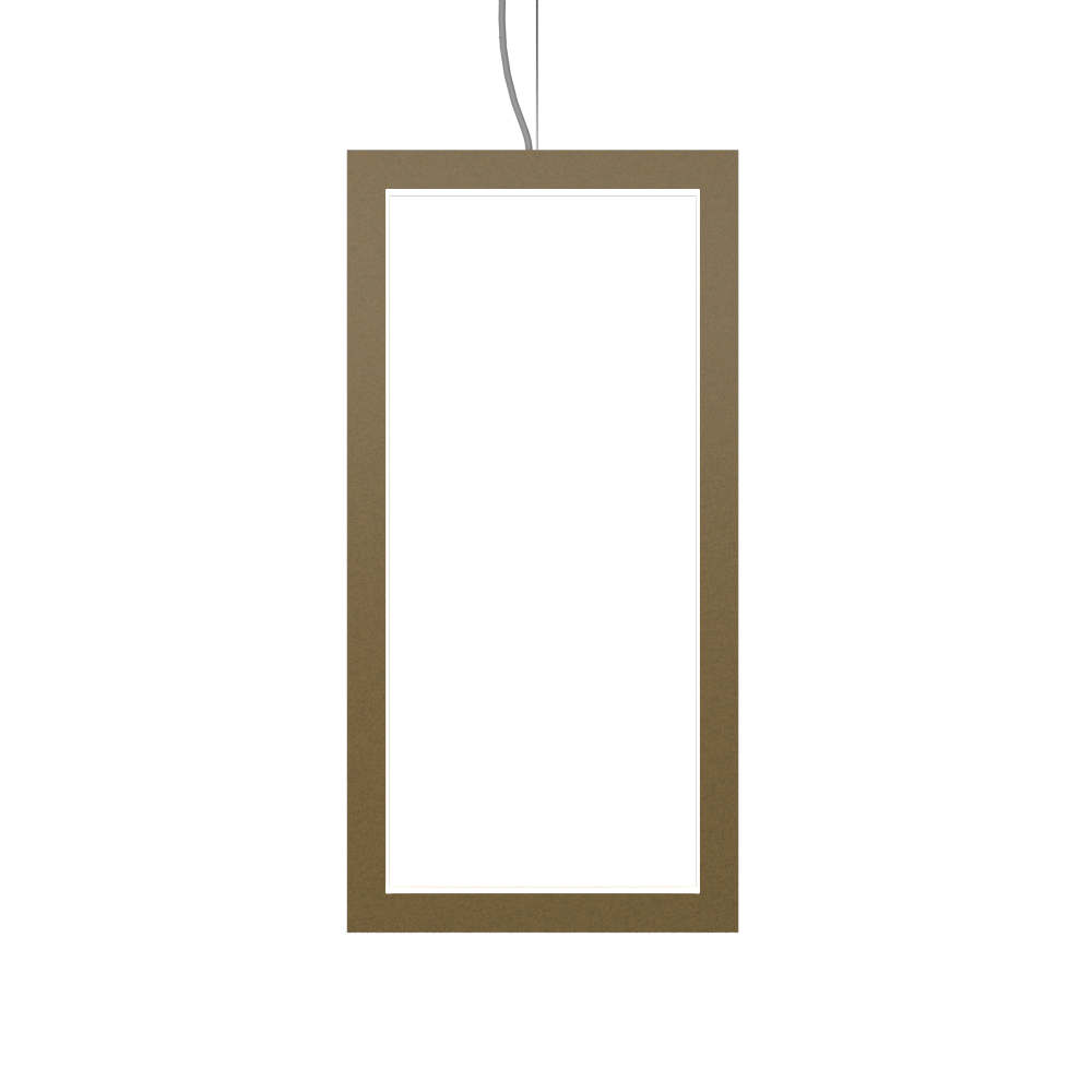 Pendant Lamp Accord Frame 1381 - Frame Line Accord Lighting | Pale Gold