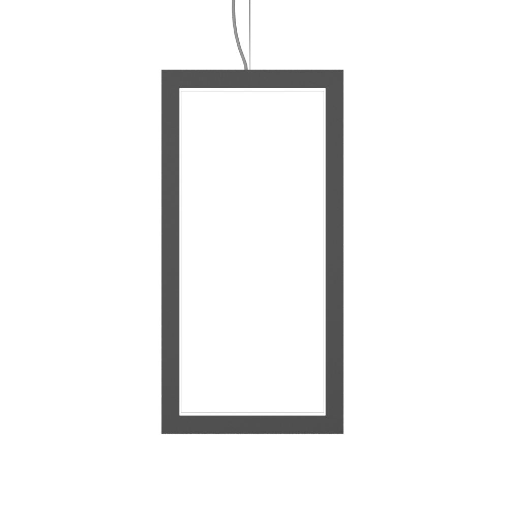 Pendant Lamp Accord Frame 1381 - Frame Line Accord Lighting | Lead Grey