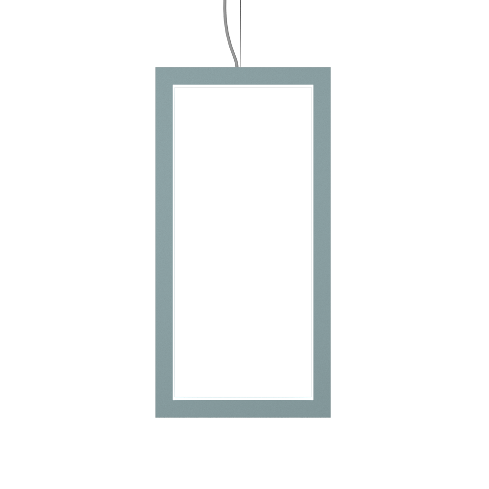 Pendant Lamp Accord Frame 1381 - Frame Line Accord Lighting | Satin Blue