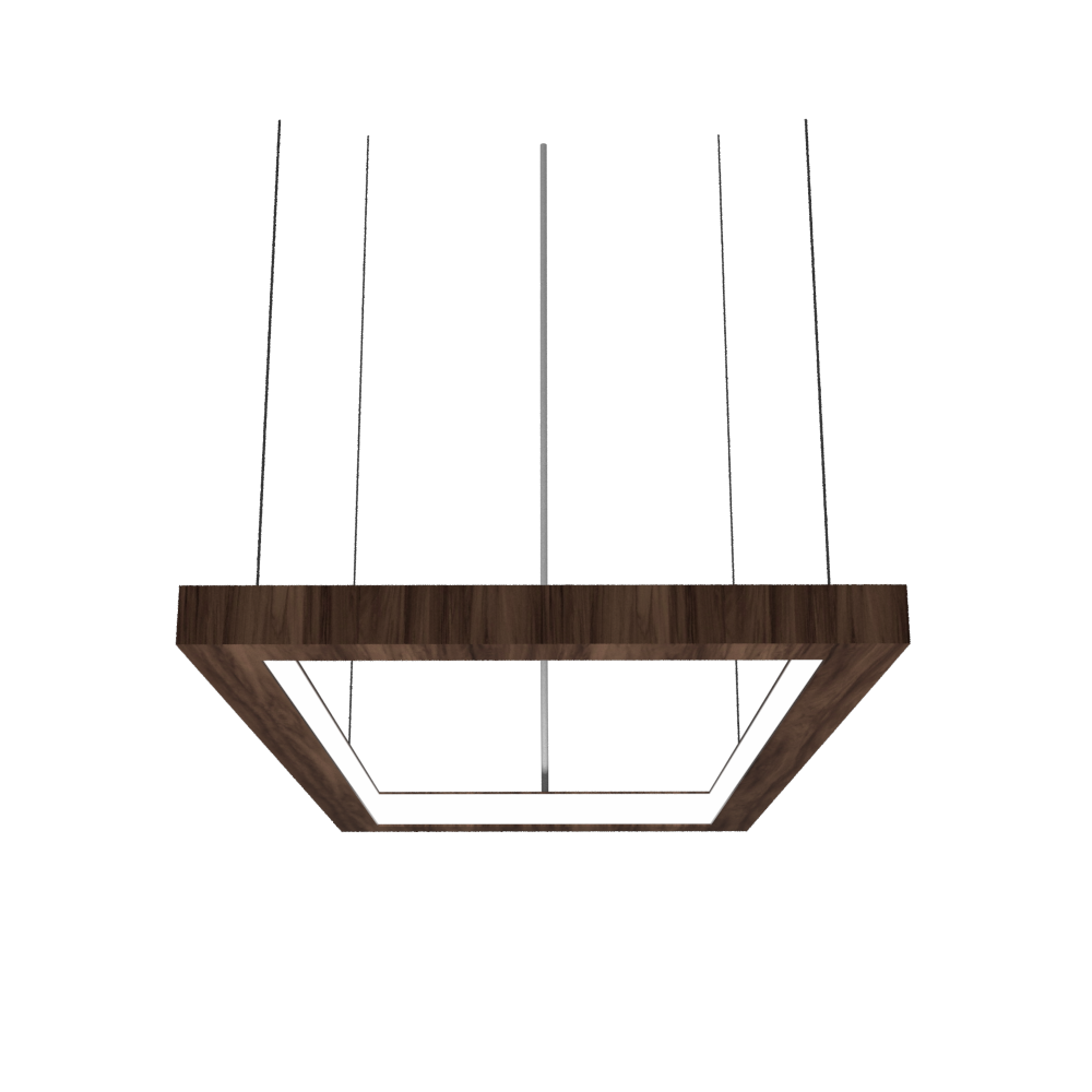 Pendant Lamp Accord Frame 1376 - Frame Line Accord Lighting | 18. American Walnut