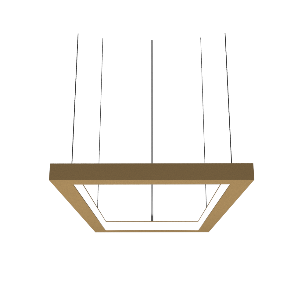 Pendant Lamp Accord Frame 1376 - Frame Line Accord Lighting | 27. Gold