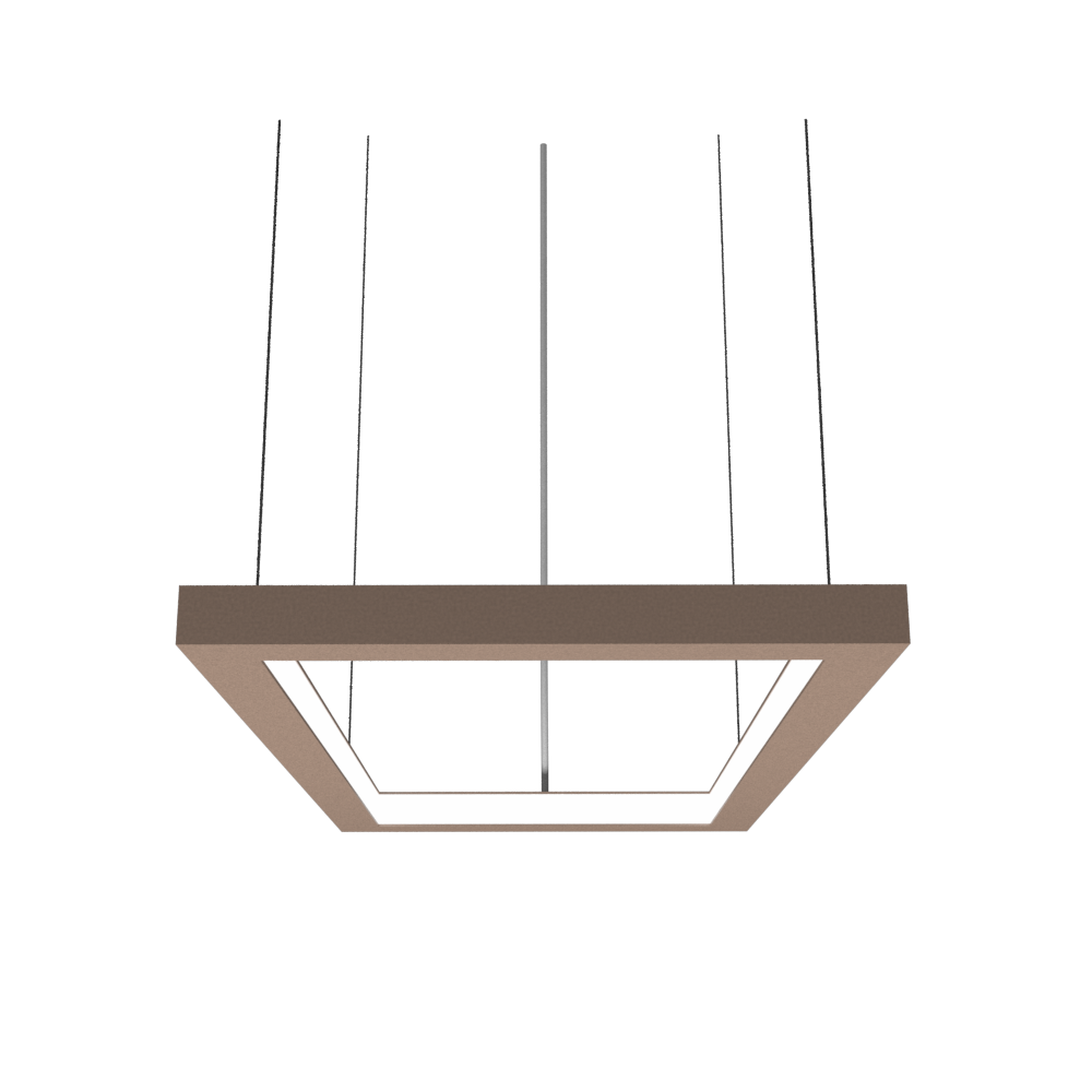 Pendant Lamp Accord Frame 1376 - Frame Line Accord Lighting | 33. Bronze