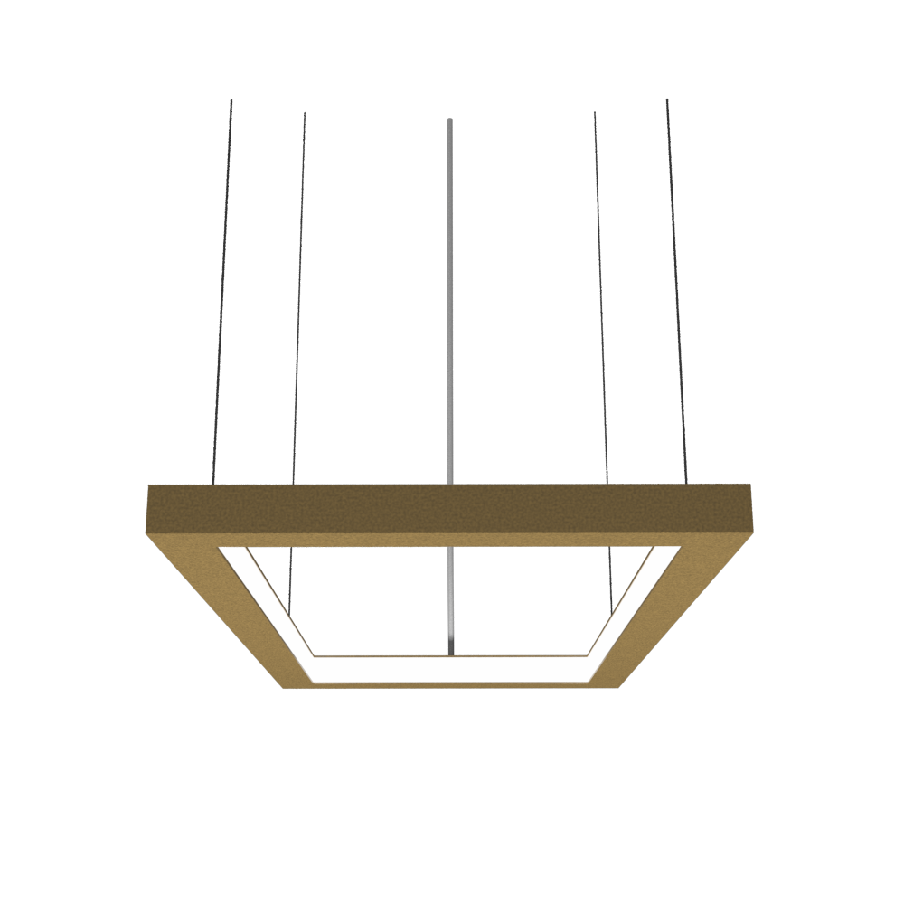 Pendant Lamp Accord Frame 1376 - Frame Line Accord Lighting | Pale Gold