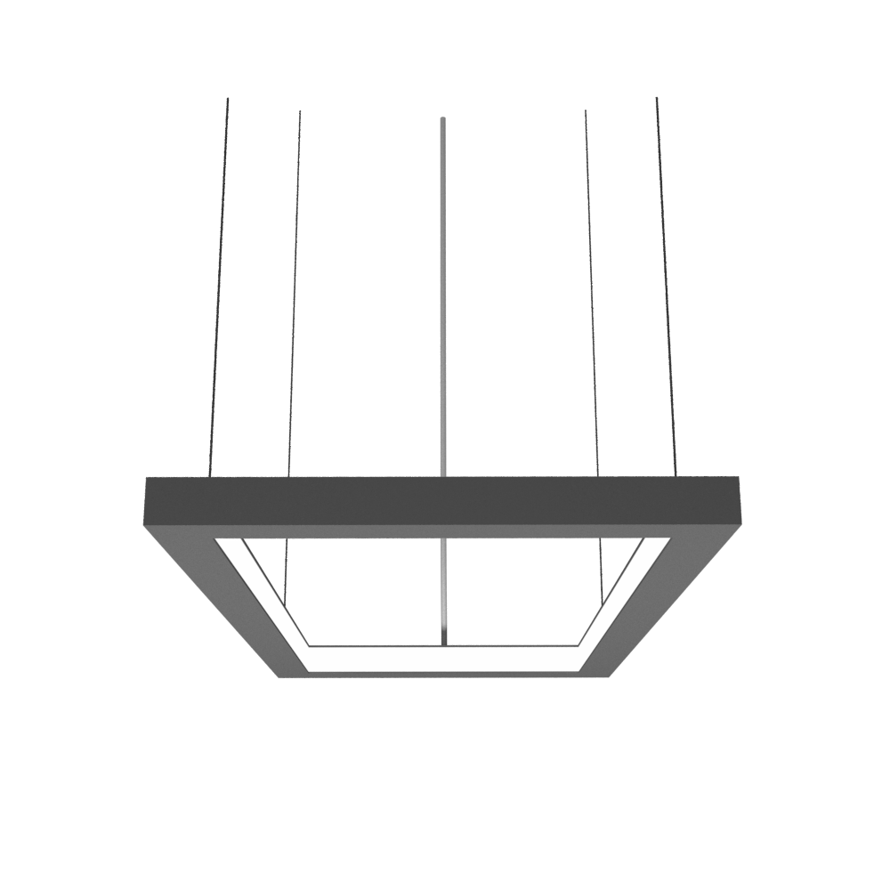 Pendant Lamp Accord Frame 1376 - Frame Line Accord Lighting | Lead Grey