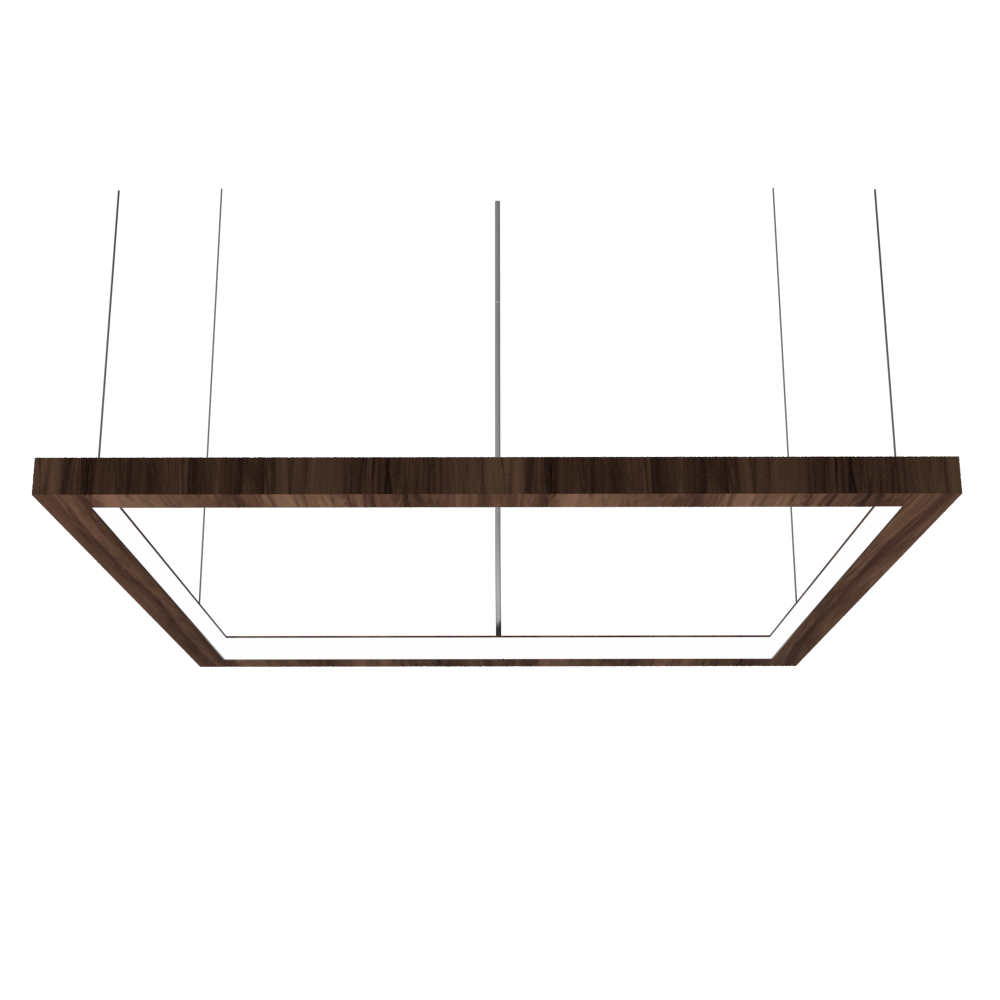 Pendant Lamp Accord Frame 1366 - Frame Line Accord Lighting | 18. American Walnut