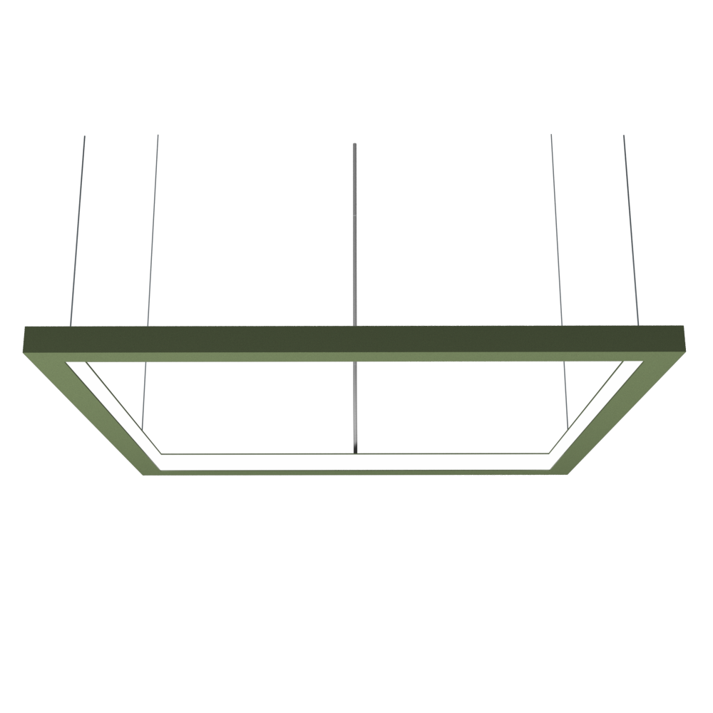 Pendant Lamp Accord Frame 1366 - Frame Line Accord Lighting | 30. Olive Green