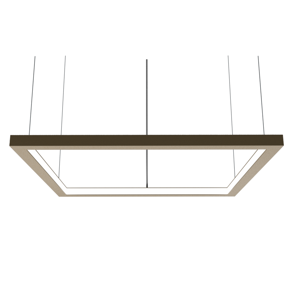Pendant Lamp Accord Frame 1366 - Frame Line Accord Lighting | Pale Gold