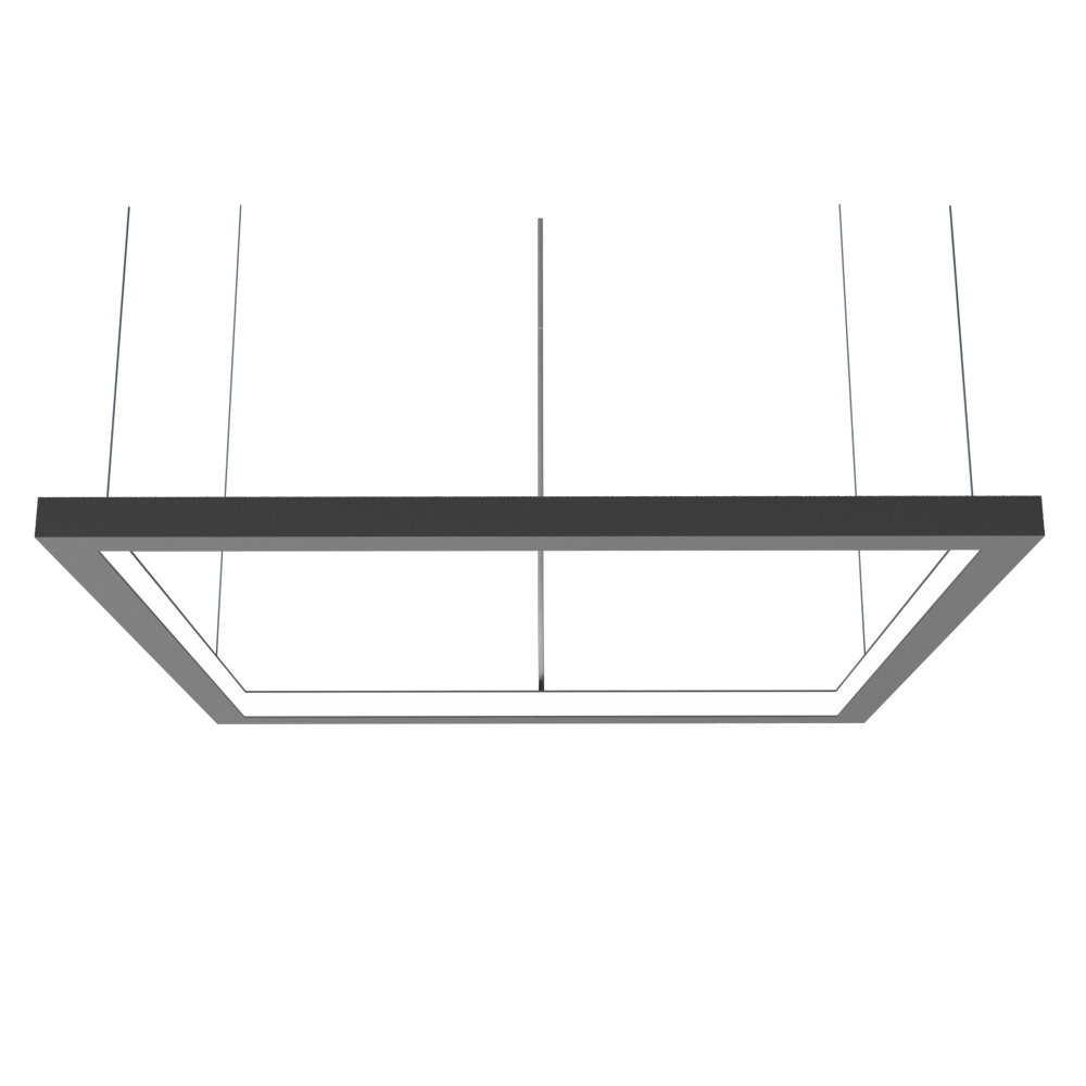 Pendant Lamp Accord Frame 1366 - Frame Line Accord Lighting | Lead Grey
