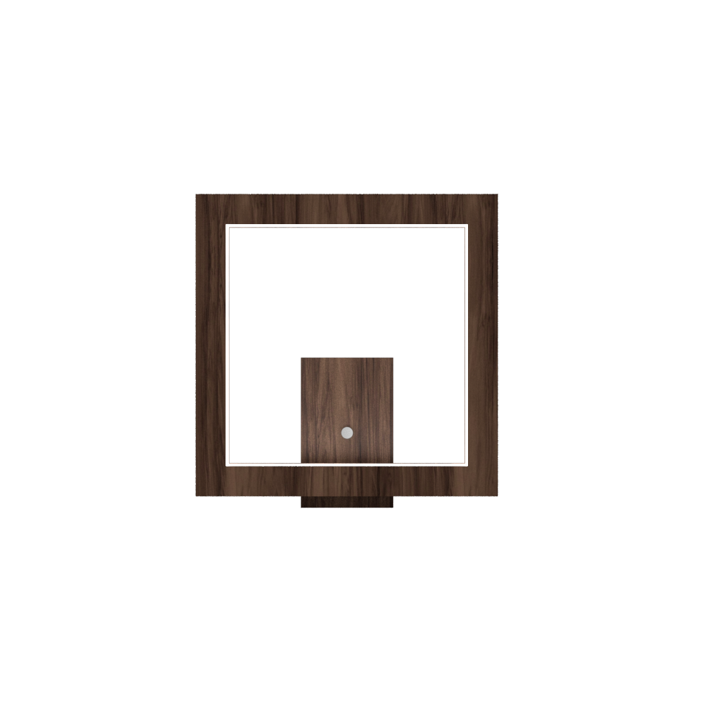 Wall Lamp Accord Frame 4116 - Frame Line Accord Lighting | 18. American Walnut