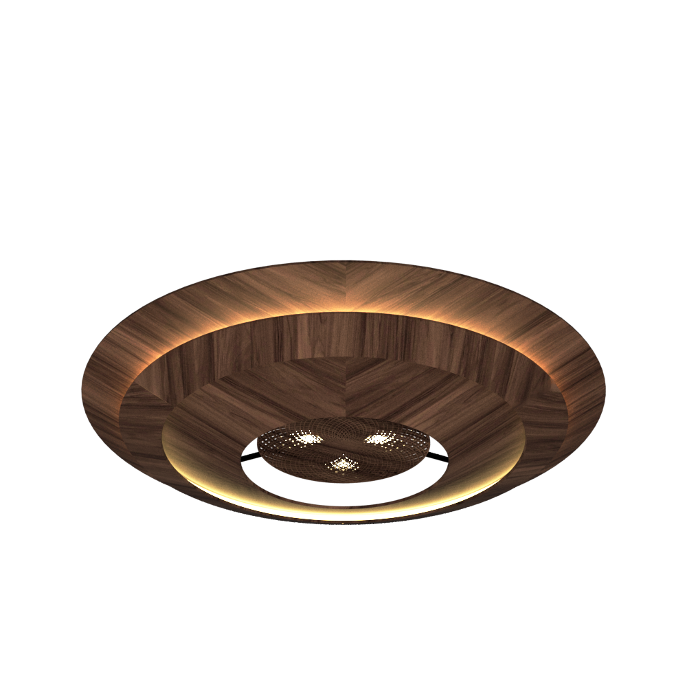 Ceiling Lamp Accord Curi 5087 - Curi Line Accord Lighting | 18. American Walnut