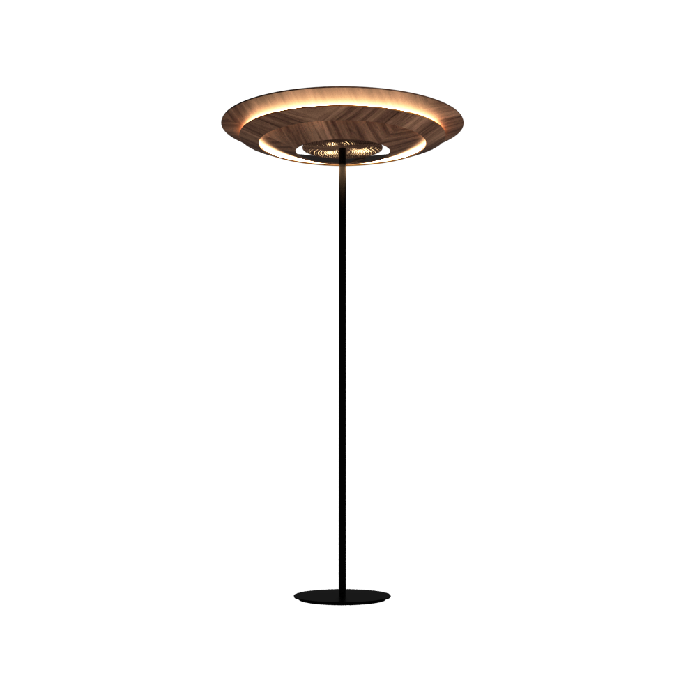 Floor Lamp Accord Curi 3124 - Curi Line Accord Lighting | 18. American Walnut