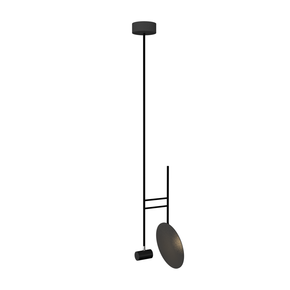 Pendant Lamp Accord Dot 1418 - Dot Line Accord Lighting | Lead Grey