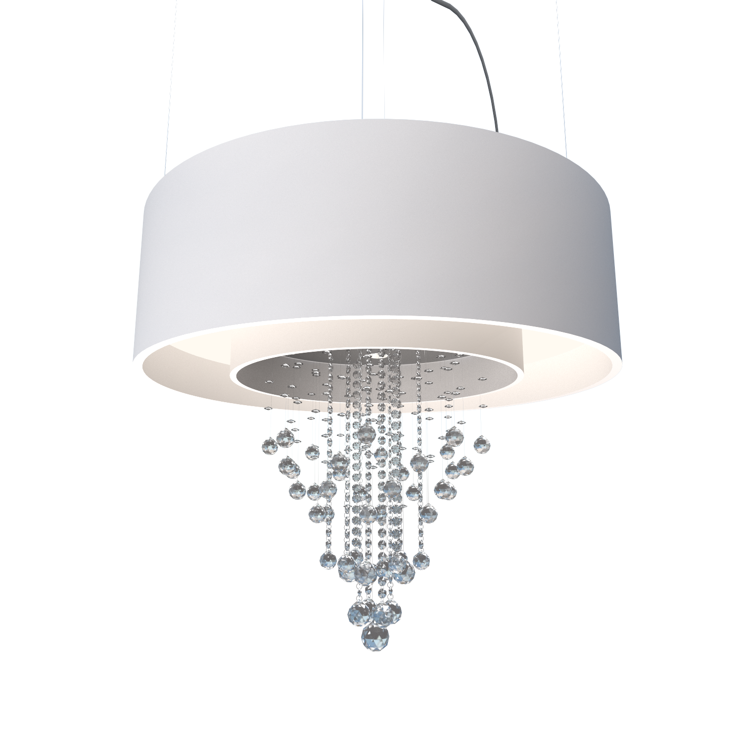 Pendant Lamp Accord Cristais 215C - Cristais Line Accord Lighting | 25. Iredescent White