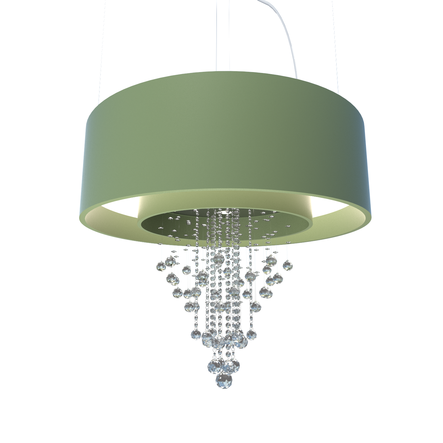 Pendant Lamp Accord Cristais 215C - Cristais Line Accord Lighting | 30. Olive Green