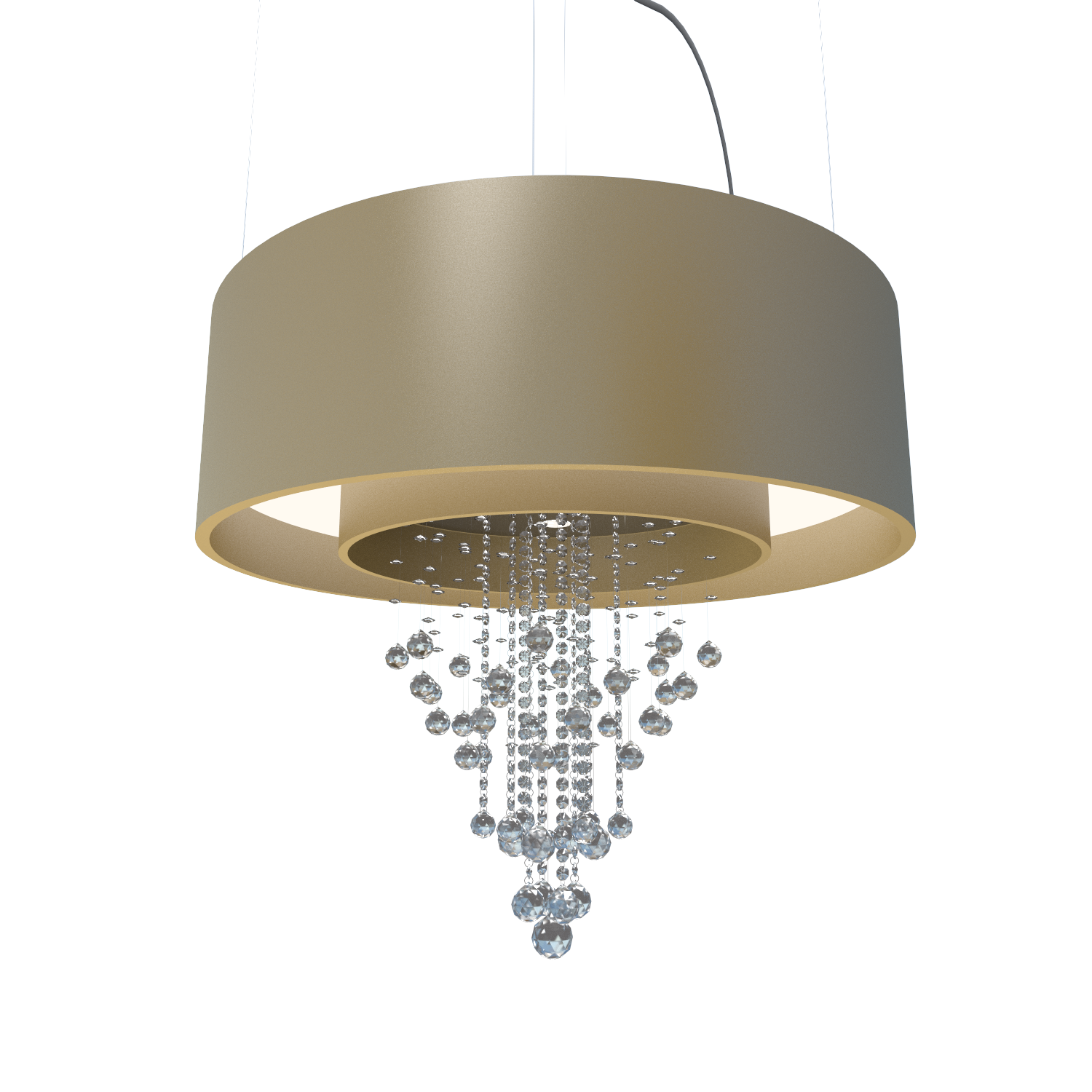 Pendant Lamp Accord Cristais 215C - Cristais Line Accord Lighting | Pale Gold