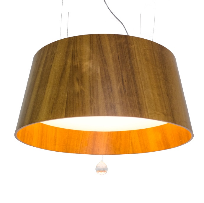 Pendant Lamp Conical with Crystal 255C - Cristais Line Accord Lighting