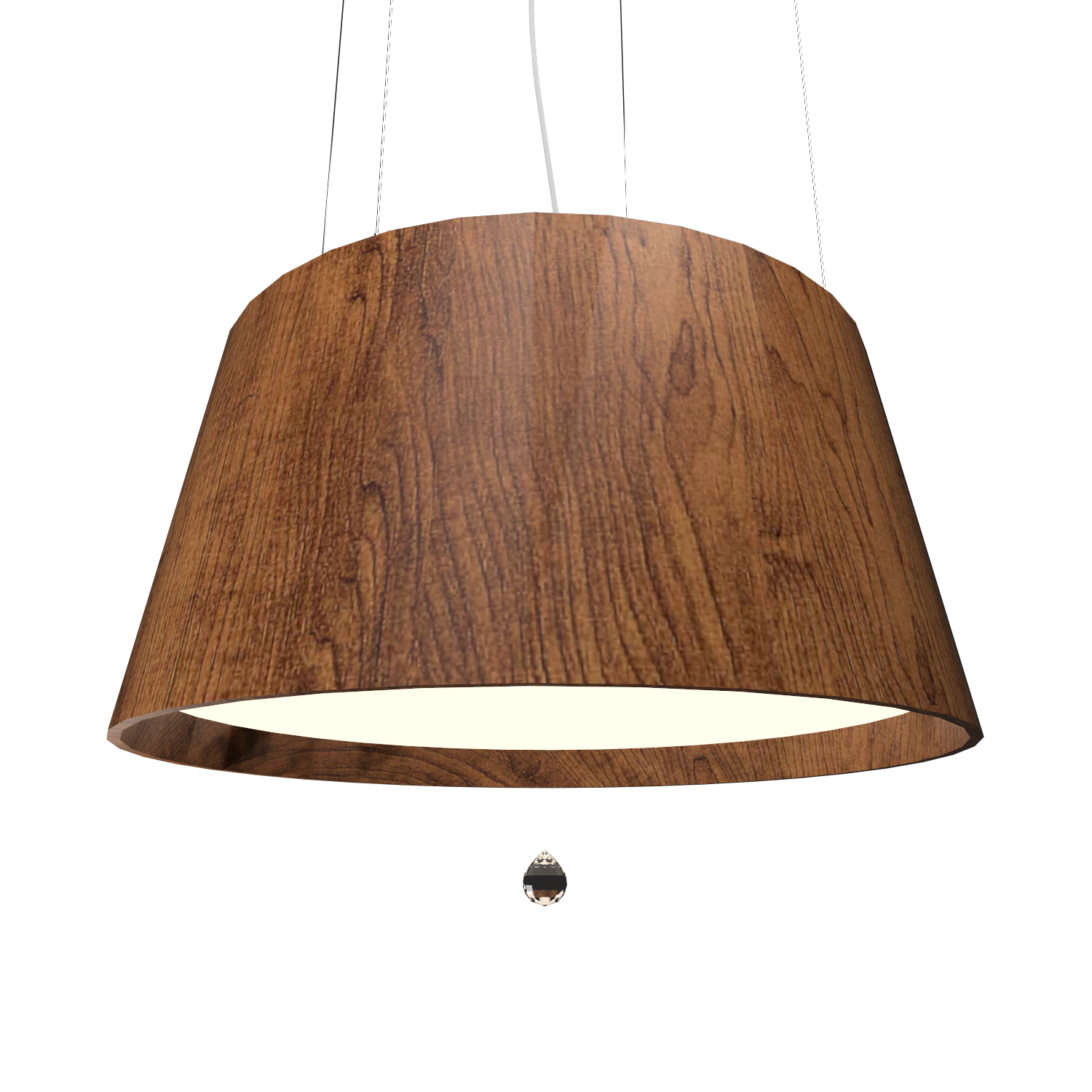 Pendant Lamp Conical with Crystal 255C - Cristais Line Accord Lighting | 06. Imbuia