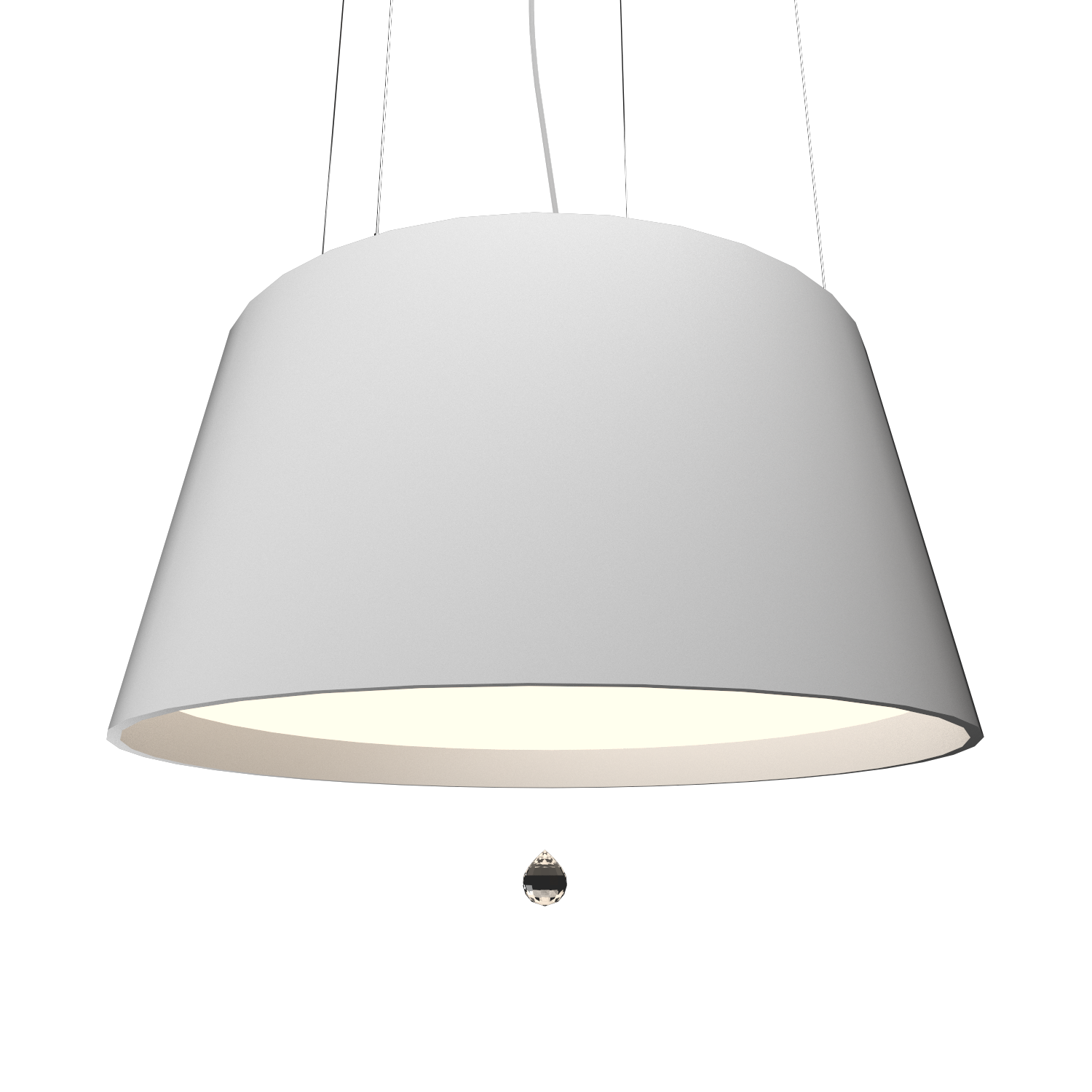 Pendant Lamp Conical with Crystal 255C - Cristais Line Accord Lighting | 07. White