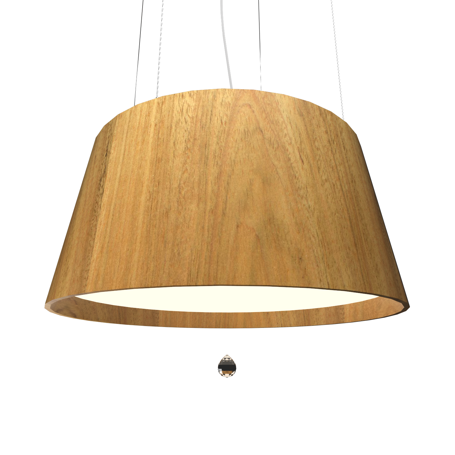 Pendant Lamp Conical with Crystal 255C - Cristais Line Accord Lighting | 09. Louro Freijó