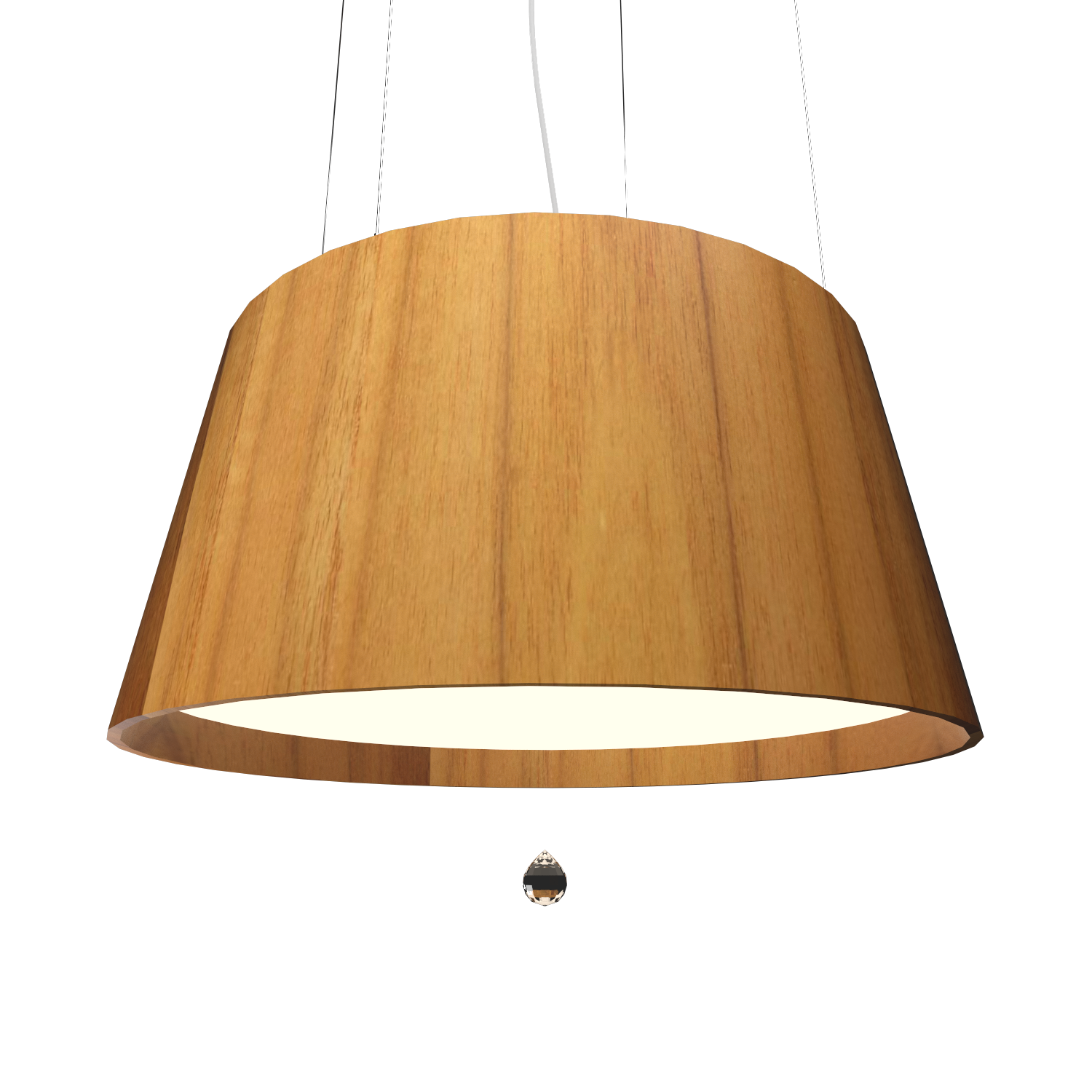 Pendant Lamp Conical with Crystal 255C - Cristais Line Accord Lighting | 12. Teak