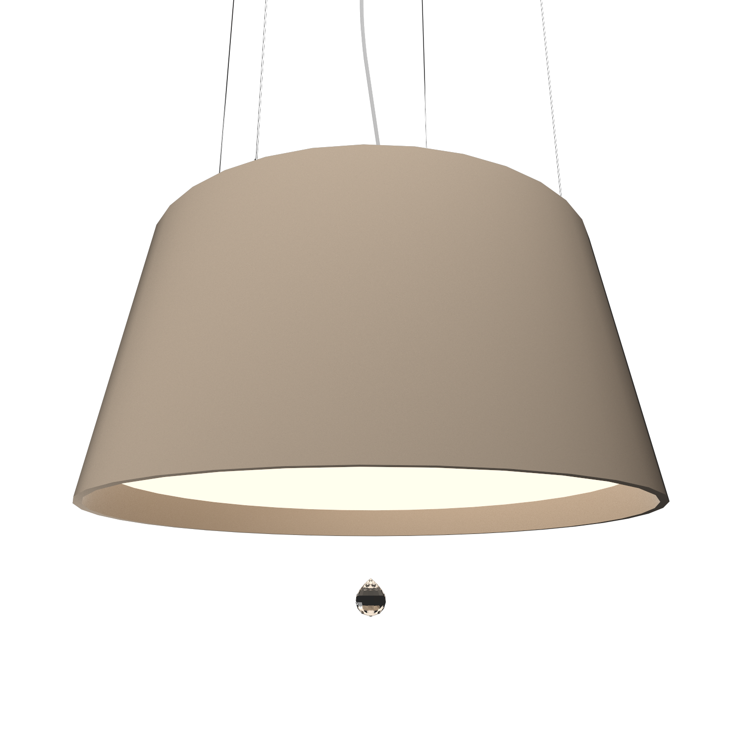 Pendant Lamp Conical with Crystal 255C - Cristais Line Accord Lighting | 15. Cappuccino