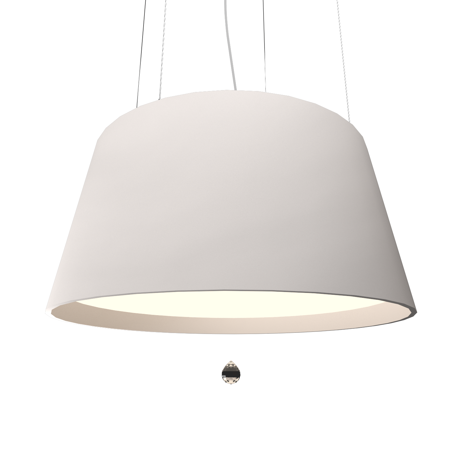 Pendant Lamp Conical with Crystal 255C - Cristais Line Accord Lighting | 25. Iredescent White
