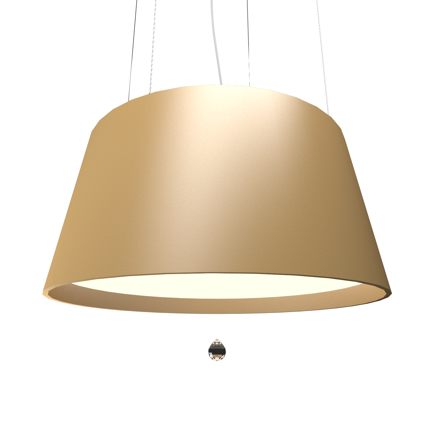 Pendant Lamp Conical with Crystal 255C - Cristais Line Accord Lighting | 27. Gold