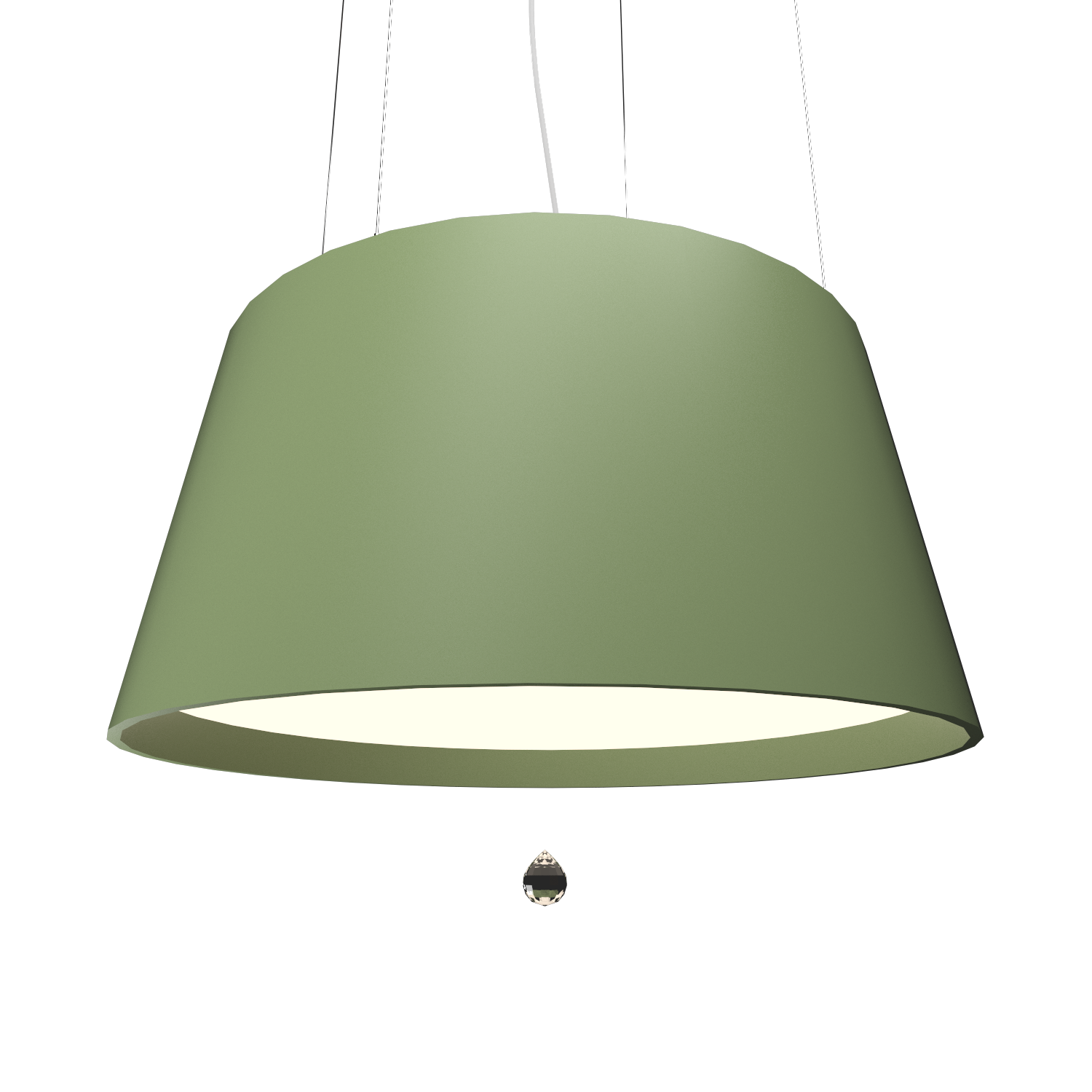 Pendant Lamp Conical with Crystal 255C - Cristais Line Accord Lighting | 30. Olive Green