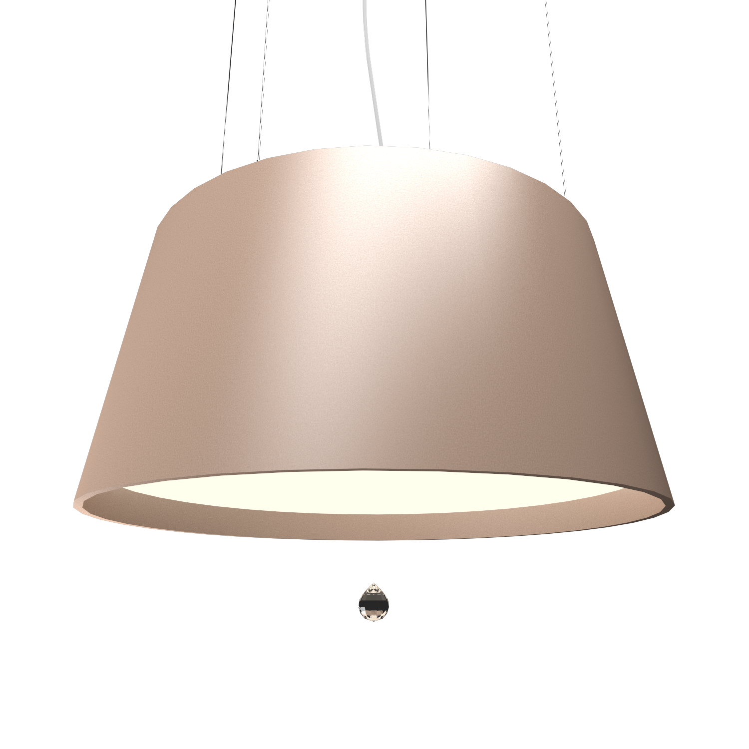 Pendant Lamp Conical with Crystal 255C - Cristais Line Accord Lighting | 33. Bronze