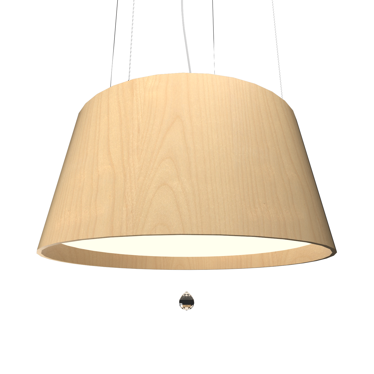 Pendant Lamp Conical with Crystal 255C - Cristais Line Accord Lighting | 34. Maple