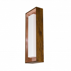 Wall Lamp Square Miter Joint with Copper Plate 403CO - Meio Squadro Line Accord Lighting